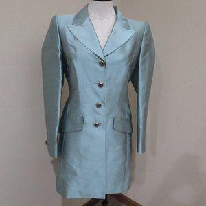 VTG Escada Couture Silk Jacket long Blazer…